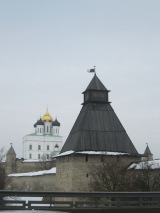 Cloudy Pskov in February